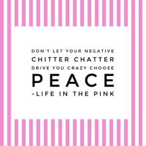 Don't let your inner critic drive you crazy choose peace