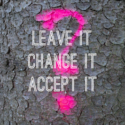 A Choice. Leave it. Change it or Accept it.