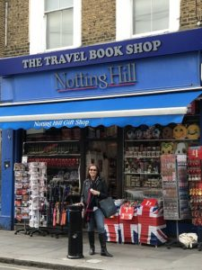 The travel book shop Notting Hill